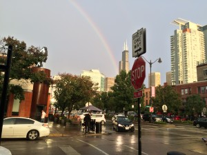 Chicago rainbow 10-7-17