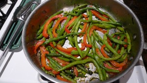 Garlicy green beans1