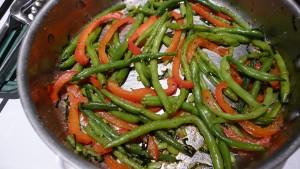 Garlicy green beans2