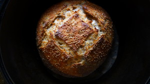 sourdough boule with sesame seeds1